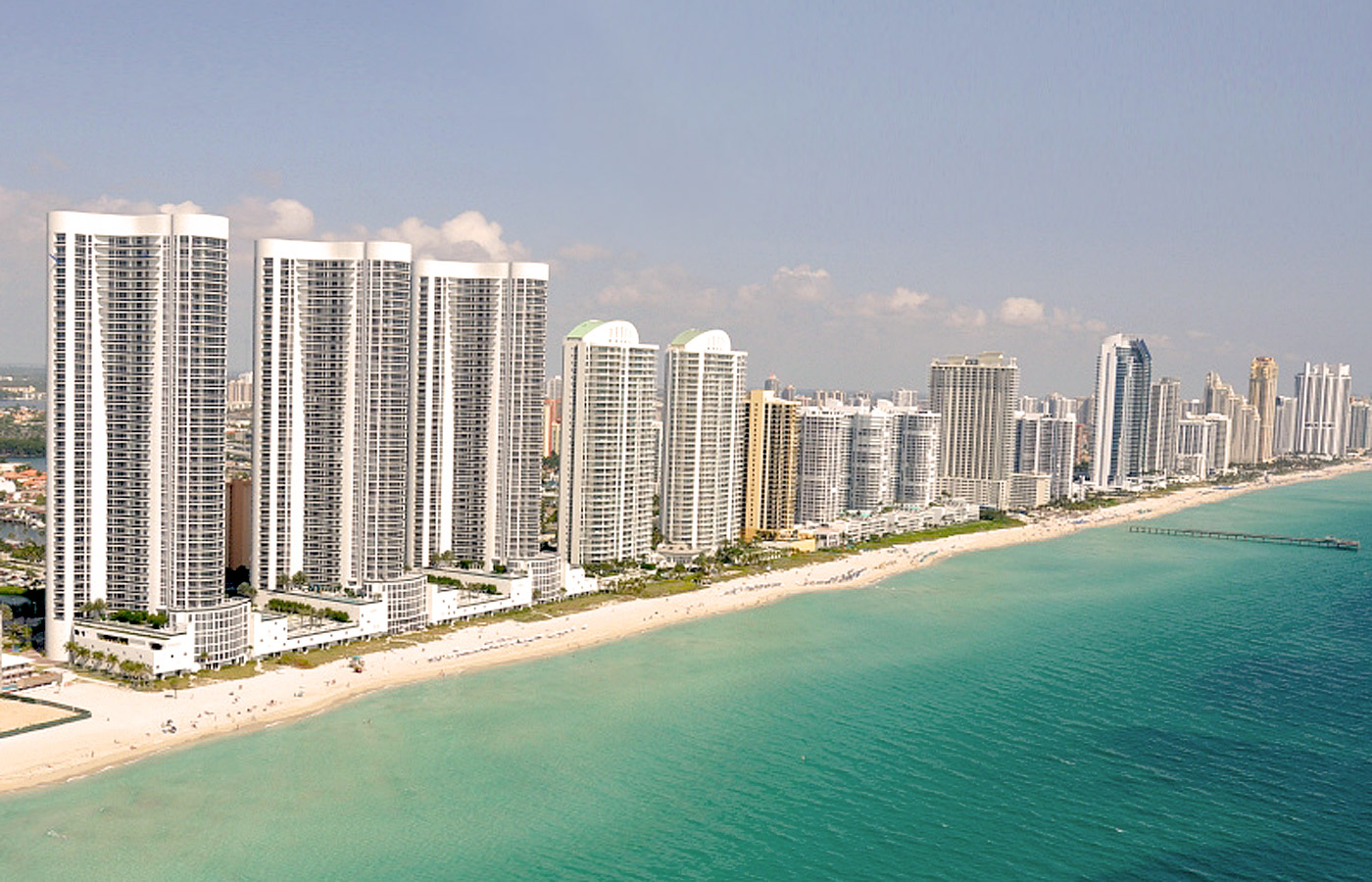 Miami Sunny Isles Condo Background Aerial